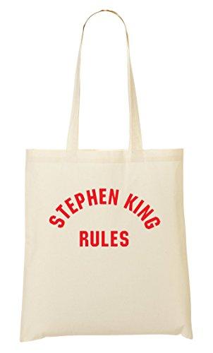 Stephen King Rules Cool Fan Bolso De Mano Bolsa De La Compra