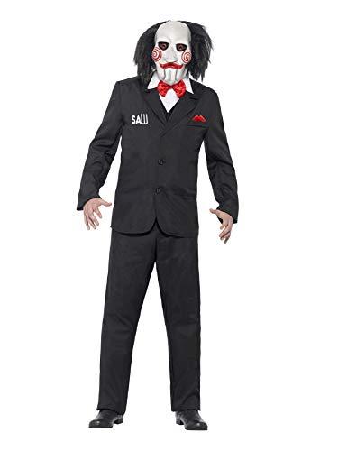 Smiffy'S 20493S Disfraz De Saw Jigsaw Con Careta, Americana Camisa Y Falso Chaleco,S
