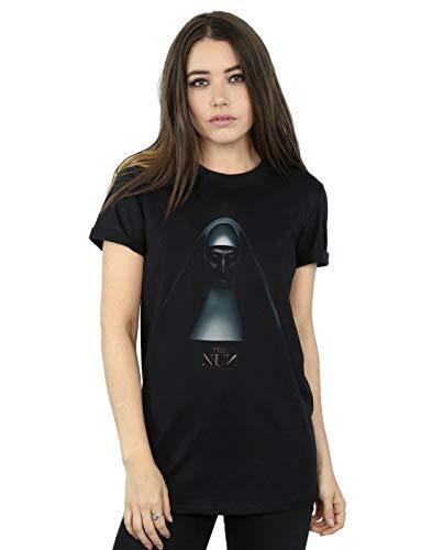 Absolute Cult The Nun Mujer Movie Poster Camiseta del Novio Fit Negro Medium
