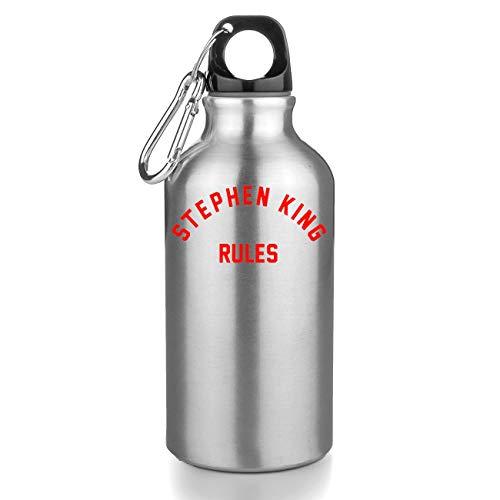 Nomorefamous Stephen King Rules Botellas De Agua Botella De Acero Sport Camping Tourist Water Bottle