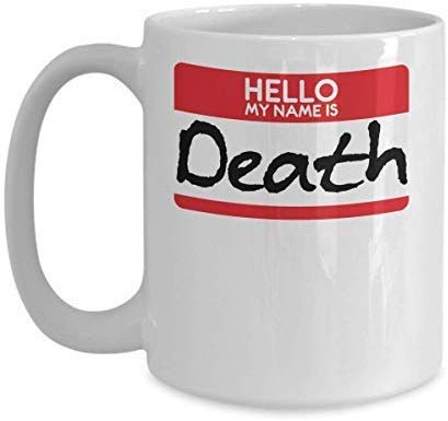 Not Applicable Novedad Taza de café Mi Nombre es Muerte Disfraz de Halloween Sickle Scythe...
