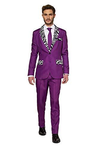 Suitmeister Men Suit Juego de Pantalones de Traje de Negocios, Pimp, XL para Hombre