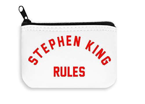 Stephen King Rules Zipper Wallet Coin Pocket Purse Billetera