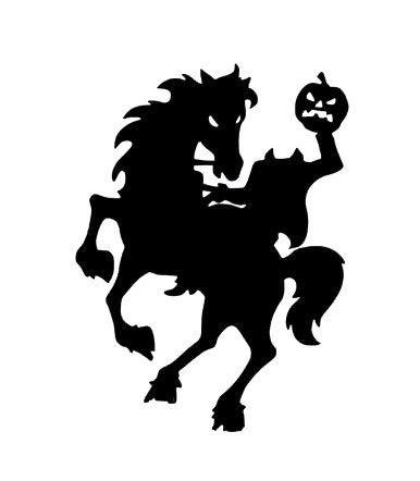 CLIFFBENNETT Calcomanía de Vinilo con diseño de Jinete sin Cabeza, para Halloween, decoración de...