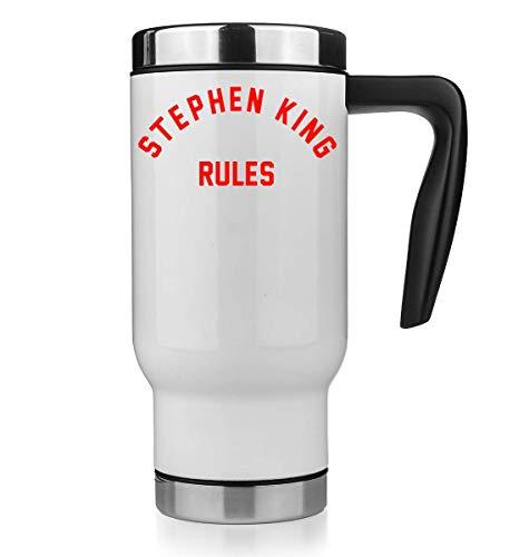 Nomorefamous Stephen King Rules Travel Mug Taza Térmica Vaso Termico Coffee Thermo