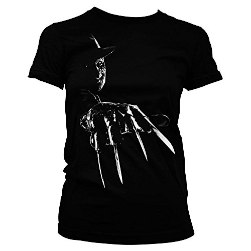 Officially Licensed Merchandise Freddy Krueger Girly tee (Black), Medium