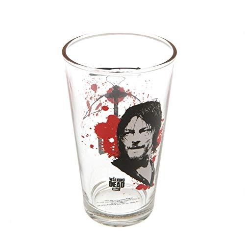 The Walking Dead - Vaso grande oficial (Talla Única) (Transparente/Negro/Rojo)