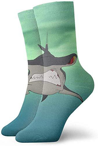 Elsaone Terror Hammerhead Shark Calcetines casuales unisex Calcetines divertidos Crew Calcetines...
