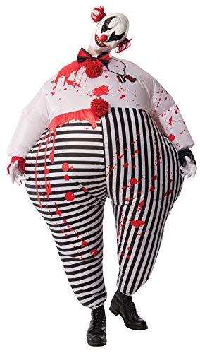 Rubies'sDisfraz de Payaso de Terror de Halloween, Hinchable, para Adultos, Producto Oficial de...