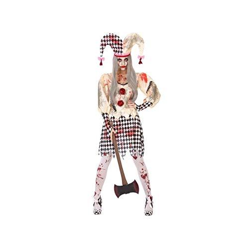 Atosa-55545 Disfraz Arlequin Sangriento Para Mujer Adulto, color beige, Xl (55545)