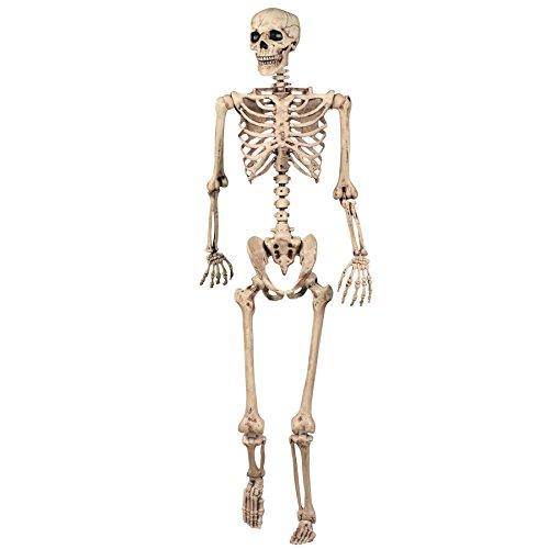 SHATCHI Decoración de Halloween, Esqueleto Posible, decoración de la Vida, tamaño 165 cm, para...