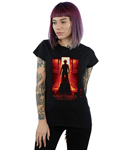 Absolute Cult A Nightmare On ELM Street Mujer He Knows Where You Sleep Camiseta Negro Large