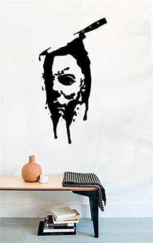 pegatinas de pared mariposas Cuchillo Cara Michael Myers Dead Horror Vinilo Tatuajes de Pared...