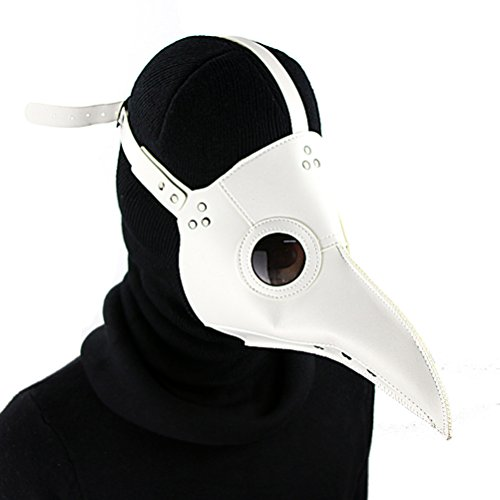 DM201605 PU Leather Mask Plague Doctor Mask Halloween Props Leather Mask Costume Plague Bird Doctor...
