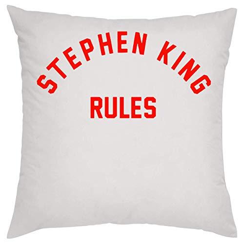 Nomorefamous Stephen King Rules Almohada Pillow