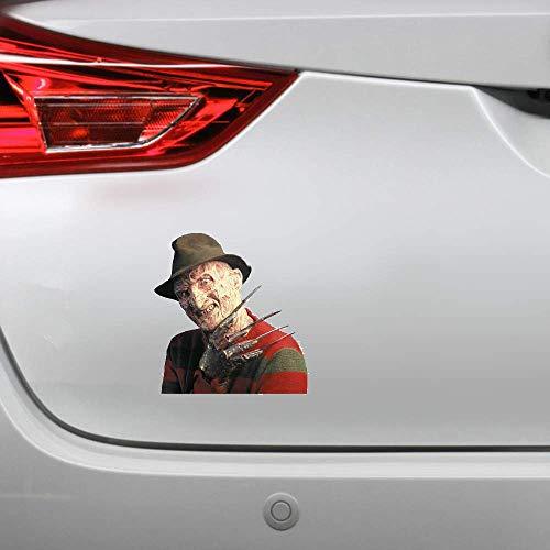 13 cm X 12,4 cm para Freddy Krueger etiqueta engomada del coche personalidad pegatinas creativas...