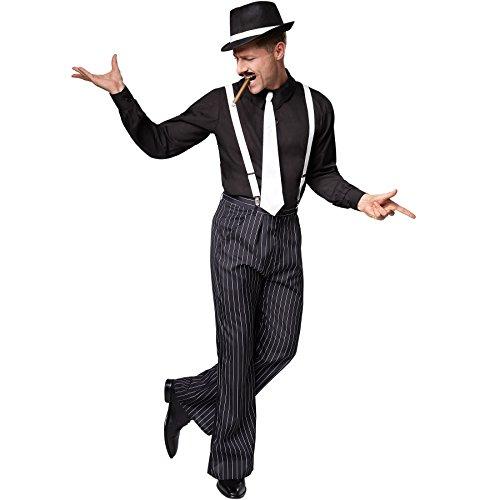 TecTake dressforfun Disfraz de Charleston Gentlemen | Incl. Corbata Blanca con elástico de Goma y...