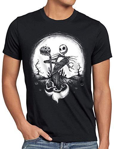 CottonCloud Jack Skellington Camiseta para Hombre T-Shirt Christmas Before Nightmare, Talla:S