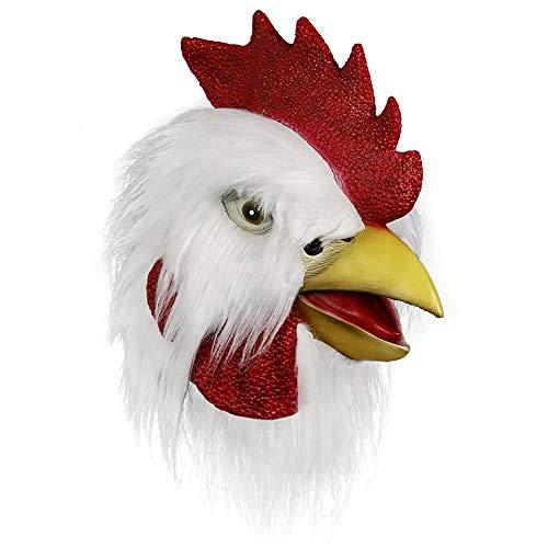 Máscara de Gallo, Cabeza de máscara Animal, Novedad de Halloween Máscara de Pollo de Lujo Fiesta...
