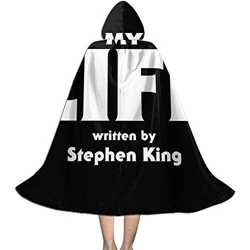 Not Applicable Traje del Bruja,My Life Stephen King Soft Confortable Asistente Capas con Sombrero...
