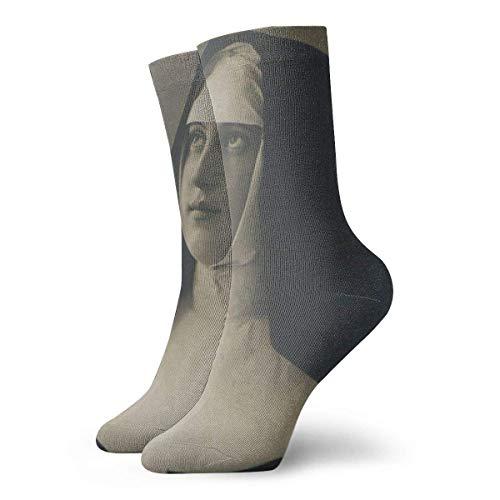 LanKa Monja para hombre impresa divertida novedad casual calcetines de vestir para mujer/unisex