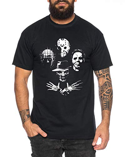 Tee Kiki Horro Icons - Camiseta de Hombre Halloween Michael Horror Myers Pennywise Man 13 Jason...