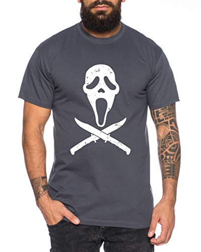 Tee Kiki Scary - Camiseta de Hombre Halloween Michael Horror Myers Pennywise Man 13 Jason Voorhees...