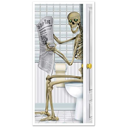 XT-Direct Halloween Esqueleto Puerta Cubierta Etiqueta Baño Sala De Estar Pegatina de Halloween...