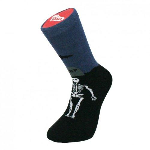 Silly Socks - Graveyard - One size novelty socks - Black by BLUW