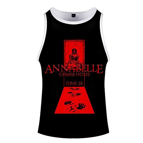 Annabelle Camiseta Camiseta con Estampado de Chaleco Camiseta sin Mangas Camiseta Transpirable Tops...