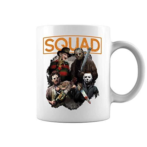 Olivia Herty Freddy Jason Michael Myers y Leatherface Squad Hall Taza de café de cerámica Taza de...