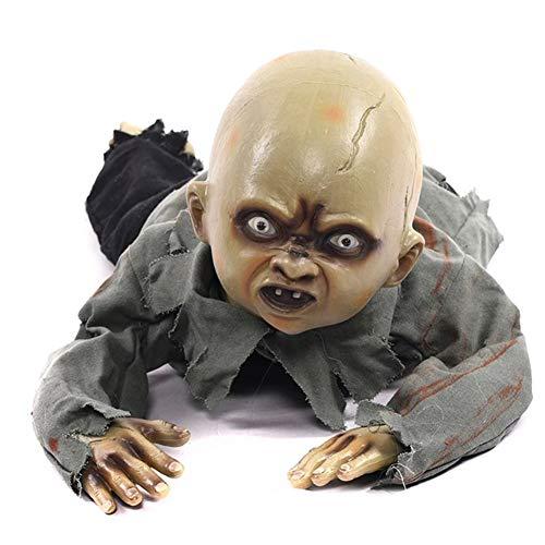 Accesorios de Halloween Arrastre animado Bebé zombie Miedo Fantasma Bebés Muñeca Embrujada...