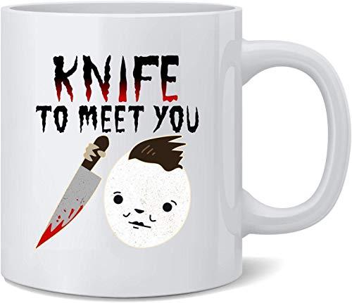 Not Applicable Cuchillo para conocerte Máscara de Halloween Película de Terror Taza de café de...