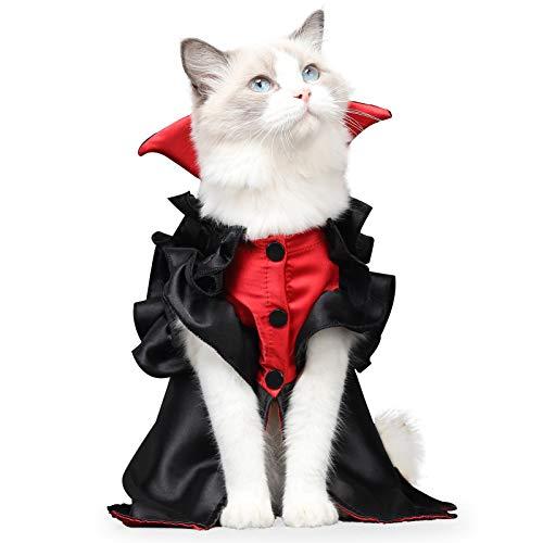 Disfraz de mascota de Halloween, vestido de vampiro para mascotas, disfraces de Halloween,...