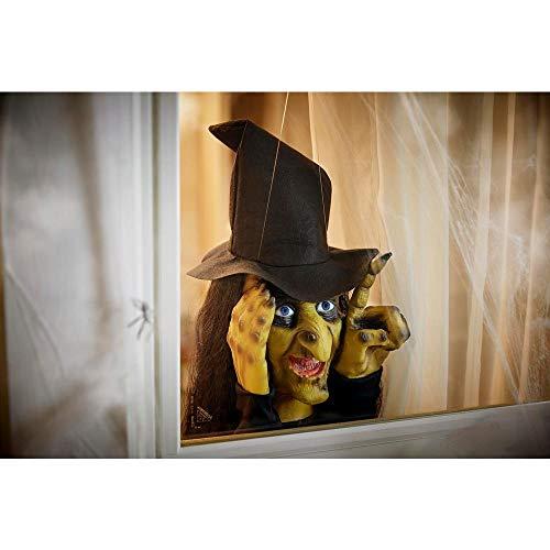 Decoración de Halloween Scary Peeper Bruja Golpeadora | Activada por Movimiento de Verdad Toca la...