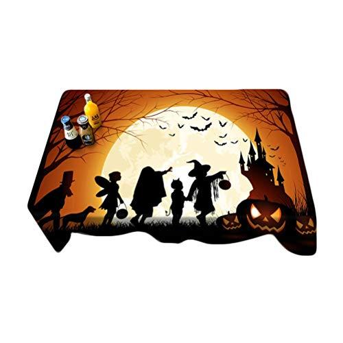VORCOOL Cubierta de Tabla a Prueba de Polvo del poliéster del Mantel de Halloween para la...