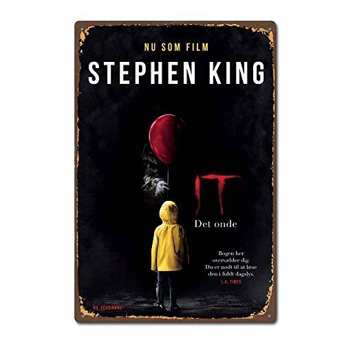 Stephen King It 2017 película de terror vintage retro de estaño, placa de metal vintage Pub Retro...