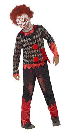 Smiffy's Smiffys-44293L Disfraz de payaso zombi deluxe, con careta de látex, parte de arri, color...