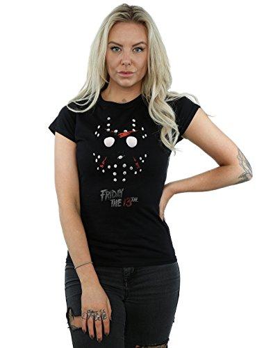 Friday 13th Mujer Jason Hockey Mask Camiseta XX-Large Negro