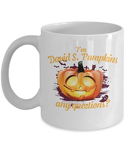 funny cat Tazas de café de Halloween - Soy David S. Calabazas - Regalos de Terror para niños -...
