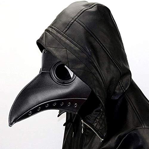ALIXIN-Medieval Peste Doctor Máscaras de Pájaro,Heavy Metal Rock,Gótico Vapor Punk Máscara,Pico...