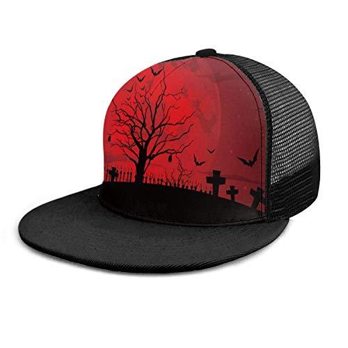 Gorra de Béisbol Gótico Miedo de Halloween Noche Roja Oscura Gorras de Béisbol Sombrero de...
