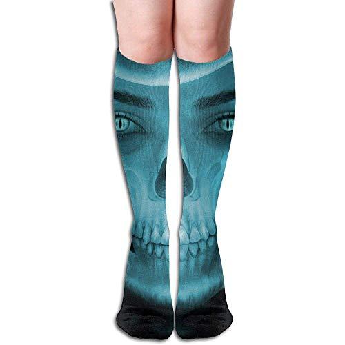 OKME Custom Calcetines de compresión Terror Skull Novelty Sport Running Calcetines de tubo, 1 par...