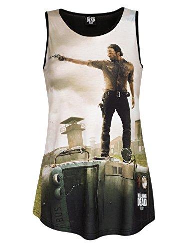Caminar Damas muertos Tank Top Rick Grimes - XS