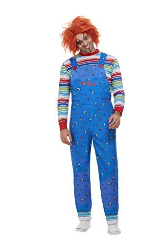 Smiffys 50265M - Disfraz de Chucky con licencia oficial, para hombre, talla M, 96,5-101,6 cm