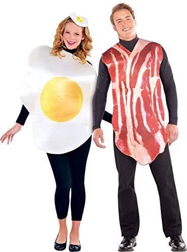 amscan 2 trajes de pareja, jamón y huevo, multicolor, talla media/grande (844276) , color/modelo...