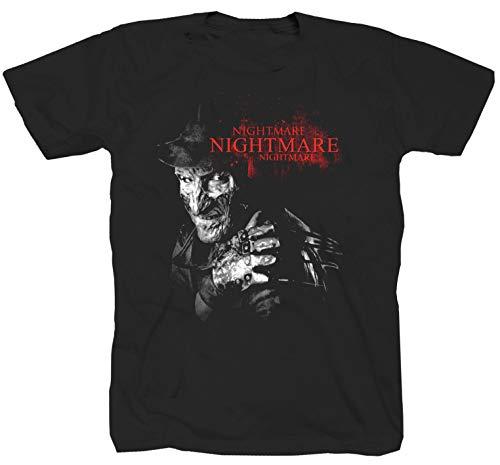 Camiseta de Freddy Krueger, película de terror Jason Hallooween Slplatter Nightmare, color negro...