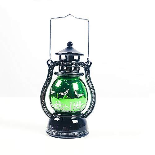 Decoraciones de Halloween Latern Luces de lámpara de aceite de Halloween Té con pilas Luz sin...