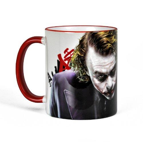 Elbenwald Joker Taza Batman The Dark Knight Taza de cerámica (320 ml Taza de café