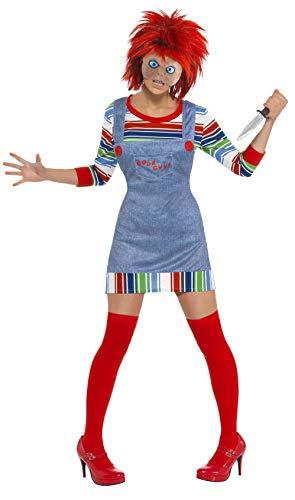 Smiffy's - Disfraz de chucky para mujer, talla S (39099S)